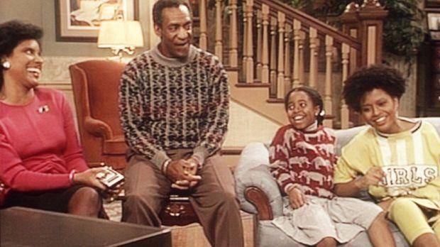 Cliff (Bill Cosby, 2.v.l.) kann nicht verhindern, dass die Videoaufzeichnung...