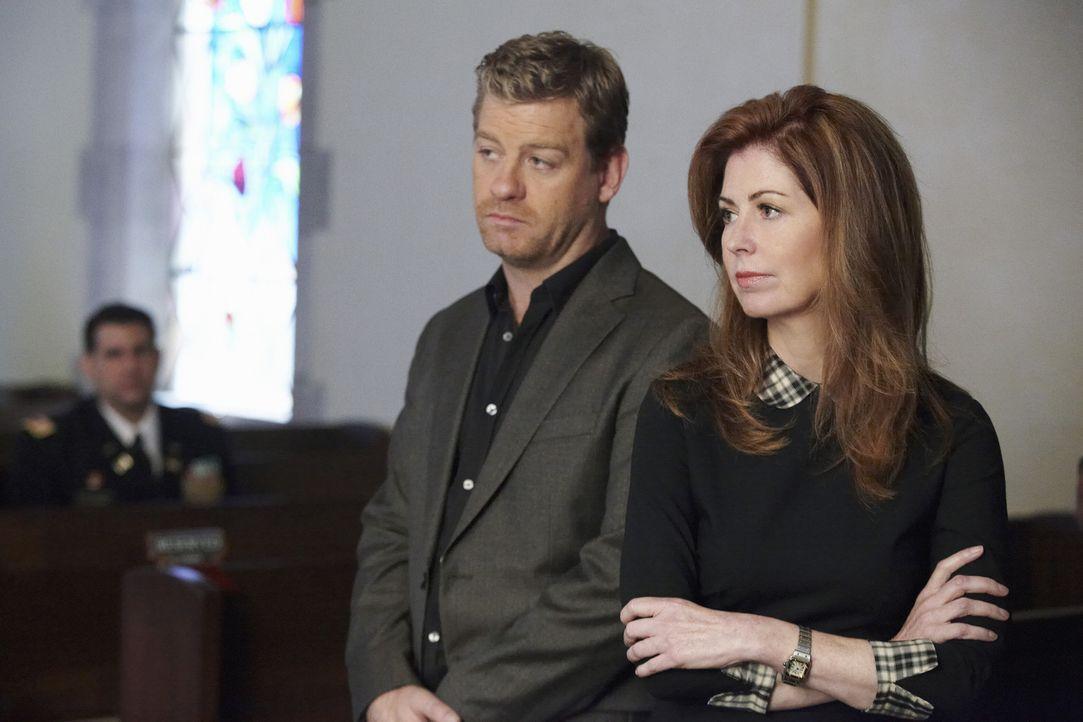 Arbeiten an einem neuen Fall: Megan (Dana Delany , r.) und Peter (Nicholas Bishop, l.) ... - Bildquelle: ABC Studios
