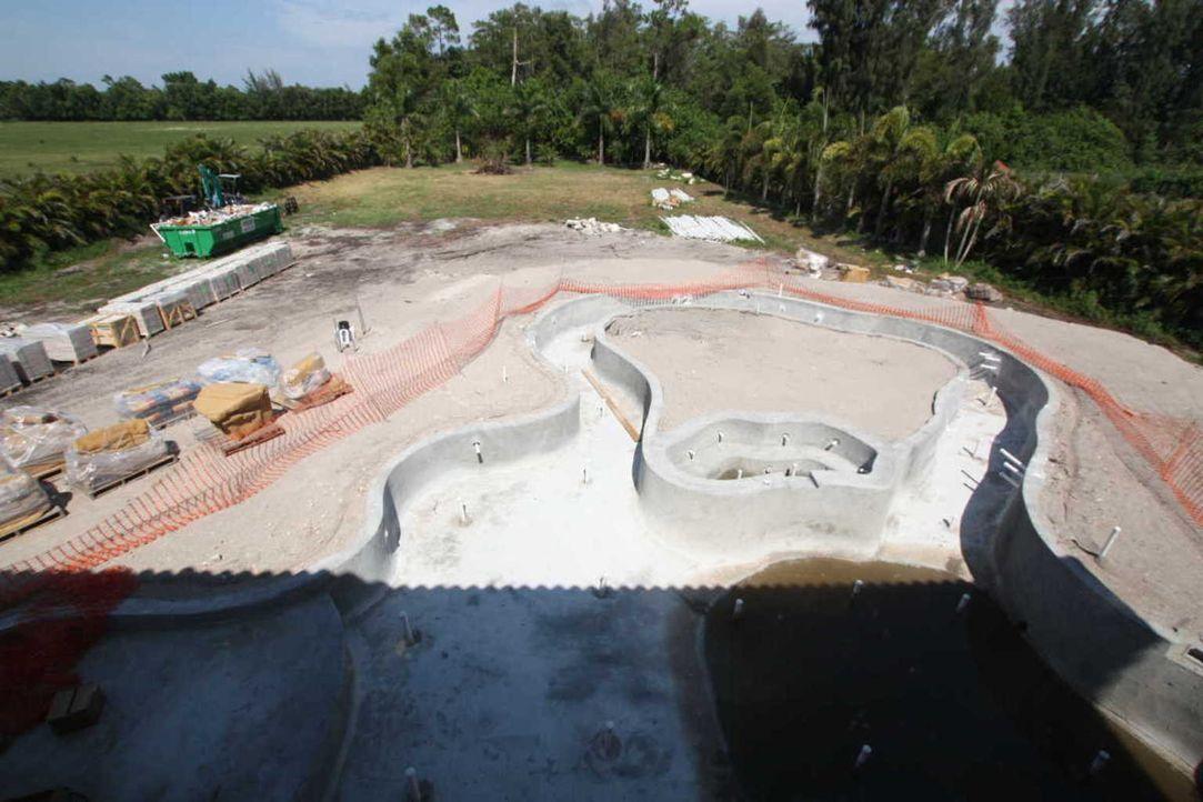 Die Arbeit an dem Projekt von Vanilla Ice geht weiter. Die Poolanlage soll demnächst einer tropischen Oase ähneln und das absolute Highlight der Anl... - Bildquelle: 2012, DIY Network/Scripps Networks, LLC.  All Rights Reserved.