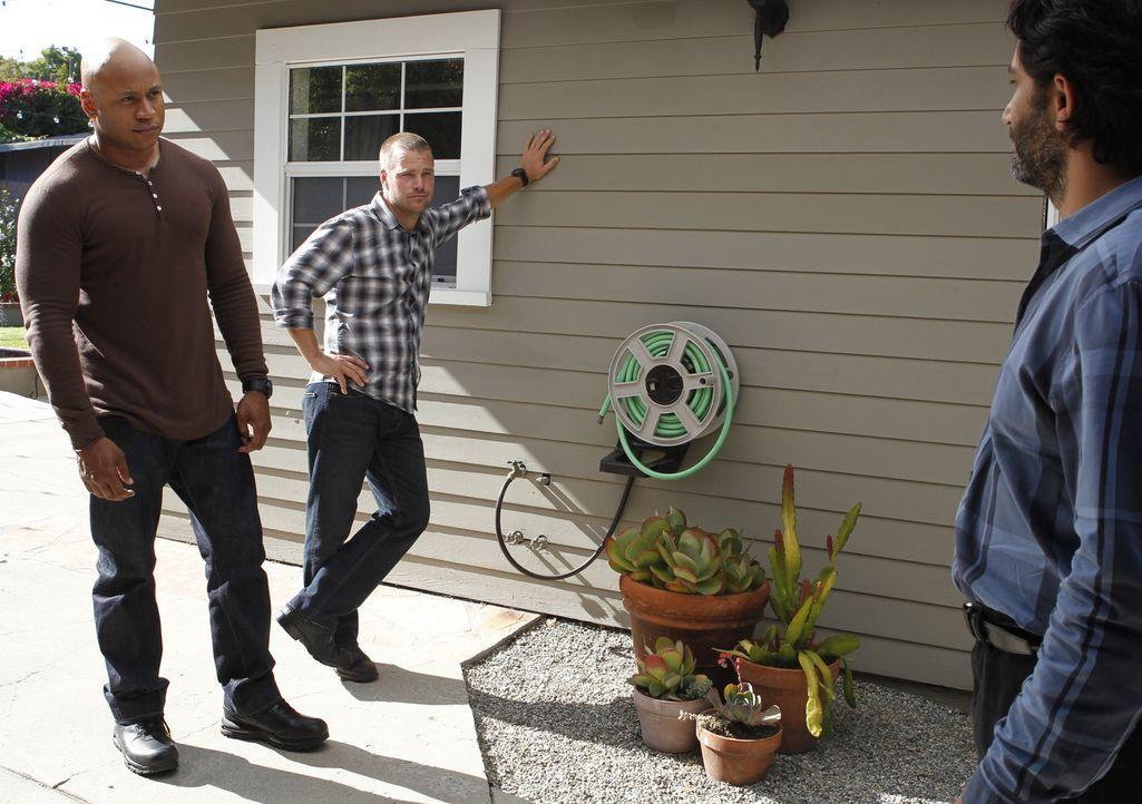 Als eine Journalistin ermordet wurde, beginnen Callen (Chris O'Donnell, M.) und Sam (LL Cool J, l.) sofort mit den Ermittlungen ... - Bildquelle: CBS Studios Inc. All Rights Reserved.