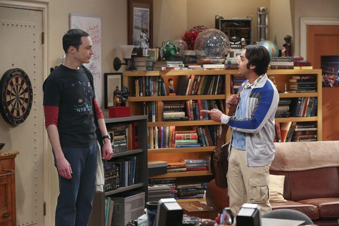 Da Sheldon (Jim Parsons, l.) während Amys Abwesenheit nicht viel zu tun hat, lädt ihn Raj (Kunal Nayyar, r.) ein, mit ihm Ausschau nach neuen Planet... - Bildquelle: 2015 Warner Brothers