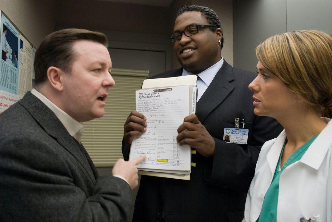 Nach einem Routineeingriff haben der der Krankenhaus Anwalt (Michael-Leon Wooley, M.) und die behandelnde Ärztin (Kristen Wiig, r.) eine ganz beson... - Bildquelle: MMVIII DREAMWORKS LLC AND SPYGLASS ENTERTAINMENT FUNDING, LLC. All rights reserved.