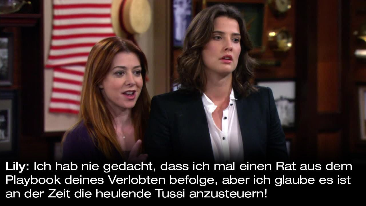 How-I-Met-Your-Mother-Zitate-Staffel-9-21-Lily-heulende-tussi - Bildquelle: 20th Century Fox Film Corporation all rights reserved.