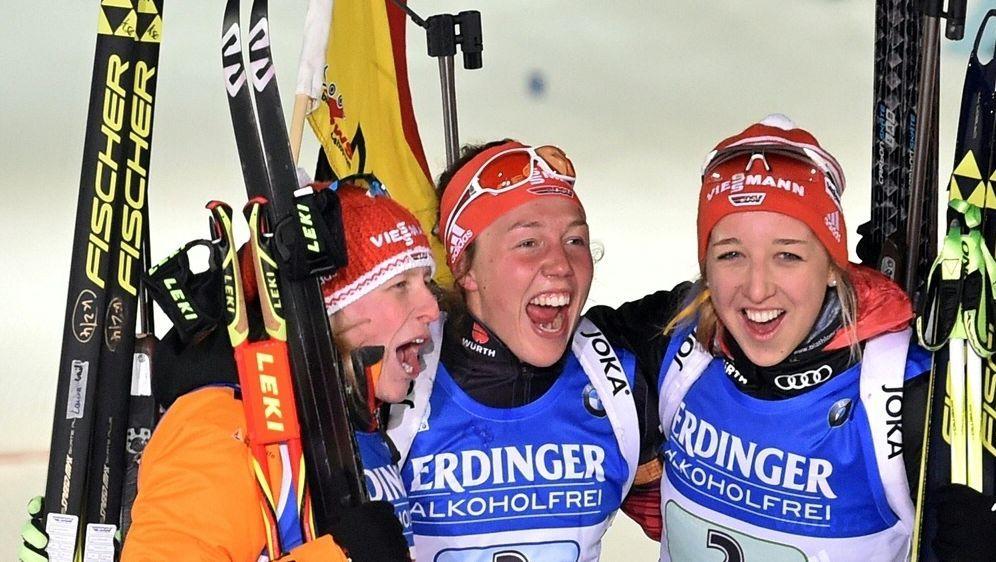 Oberhof: Sieg für Hildebrand, Dahlmeier und Preuß (v.l.) - Bildquelle: AFPSIDKIRILL KUDRYAVTSEV