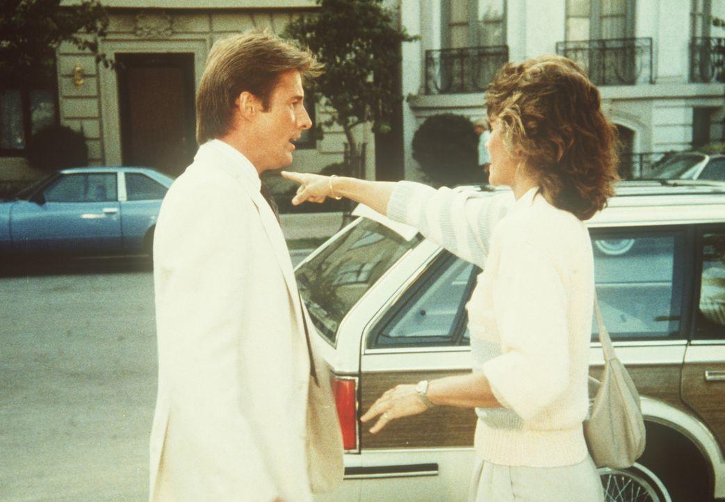 Amanda (Kate Jackson, r.) gesteht Lee (Bruce Boxleitner), dass sie die Spur des Kunstrestaurators Chamberlain verloren hat ...