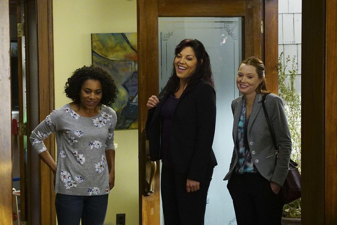 Callie (Sara Ramirez, M.) und Arizona kommen im Streit um das Sorgerecht für Sofia nicht weiter, weshalb der Fall nun vor Gericht landet. Penny (Sam... - Bildquelle: Richard Cartwright ABC Studios