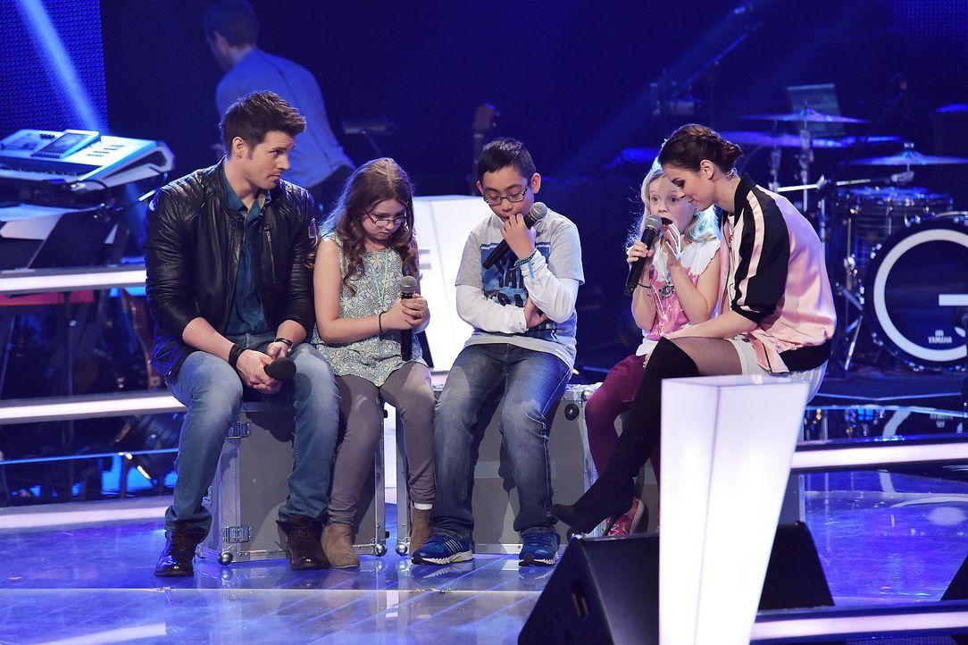The-Voice-Kids-Stf03-Epi06-Auftritte-08-Eleni-Dave-Linnea-SAT1-Andre-Kowalski - Bildquelle: SAT.1/ Andre Kowalski