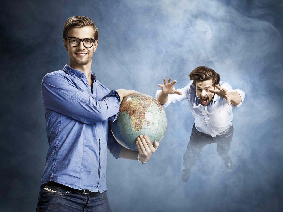 Wer ist der Klügste, Stärkste und Mutigste? Joko Winterscheidt (l.) und Klaas Heufer-Umlauf (r.) wollen es wissen und stellen sich dem unerbittliche... - Bildquelle: Marcus Höhn ProSieben