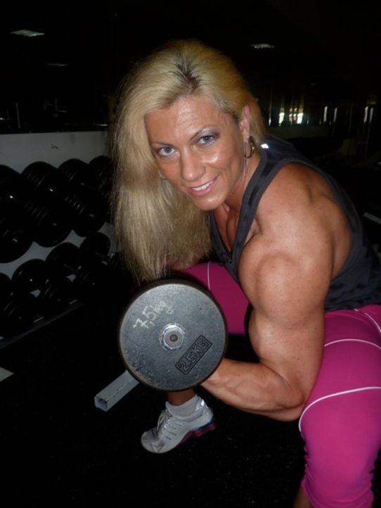 Skadi sieht aus wie Schwarzenegger, aber sie ist blond - und eine Frau. - Bildquelle: SAT.1