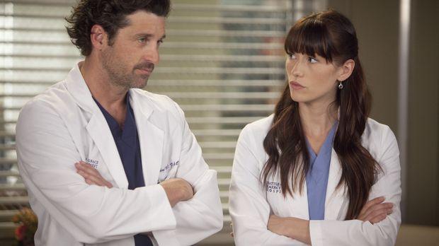 Ein anstrengender Arbeitstag wartet auf Derek (Patrick Dempsey, l.) und Lexie...