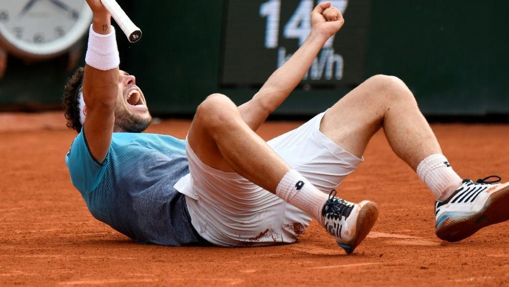 Größter Karriere-Erfolg: Cecchinato steht im Halbfinale - Bildquelle: AFPSIDEric FEFERBERG