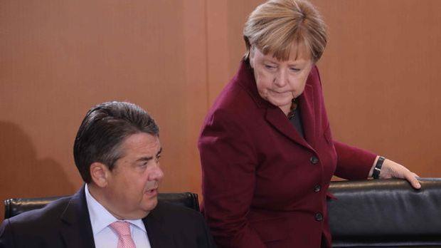 Wirtschaftsminister Sigmar Gabriel und Kanzlerin Angela Merkel.
