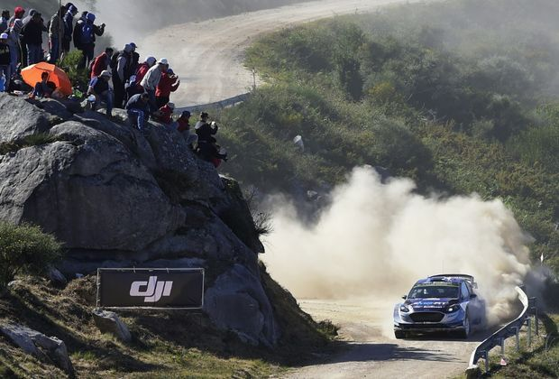 Ott Tänak führt die Rallye Portugal an