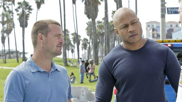 Ein neuer Fall beschäftigt Callen (Chris O'Donnell, l.) und Sam (LL Cool J, r...