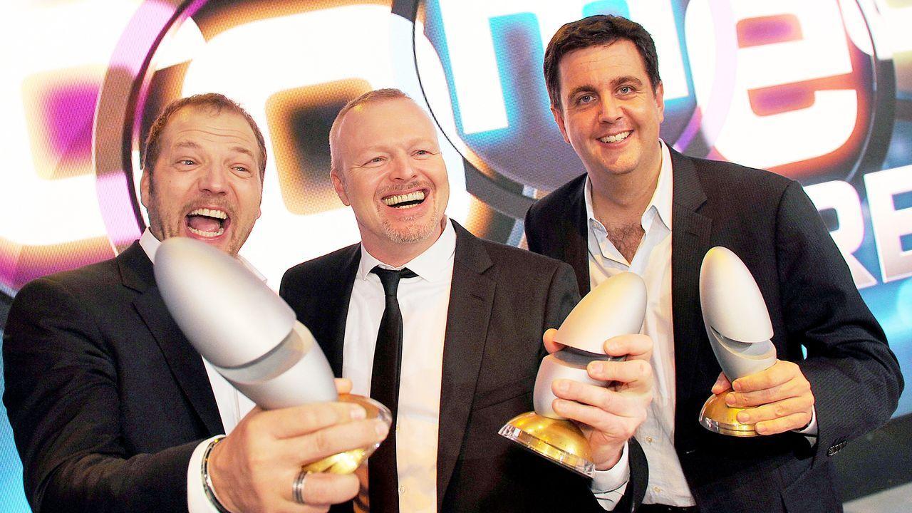 Comedypreis-2013-Mario-Barth-Stefan-Raab-Bastian-Pastewka-13-10-15-dpa - Bildquelle: dpa picture alliance