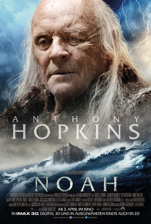 Noah - Charater Poster - Anthony Hopkins - Bildquelle: Paramount