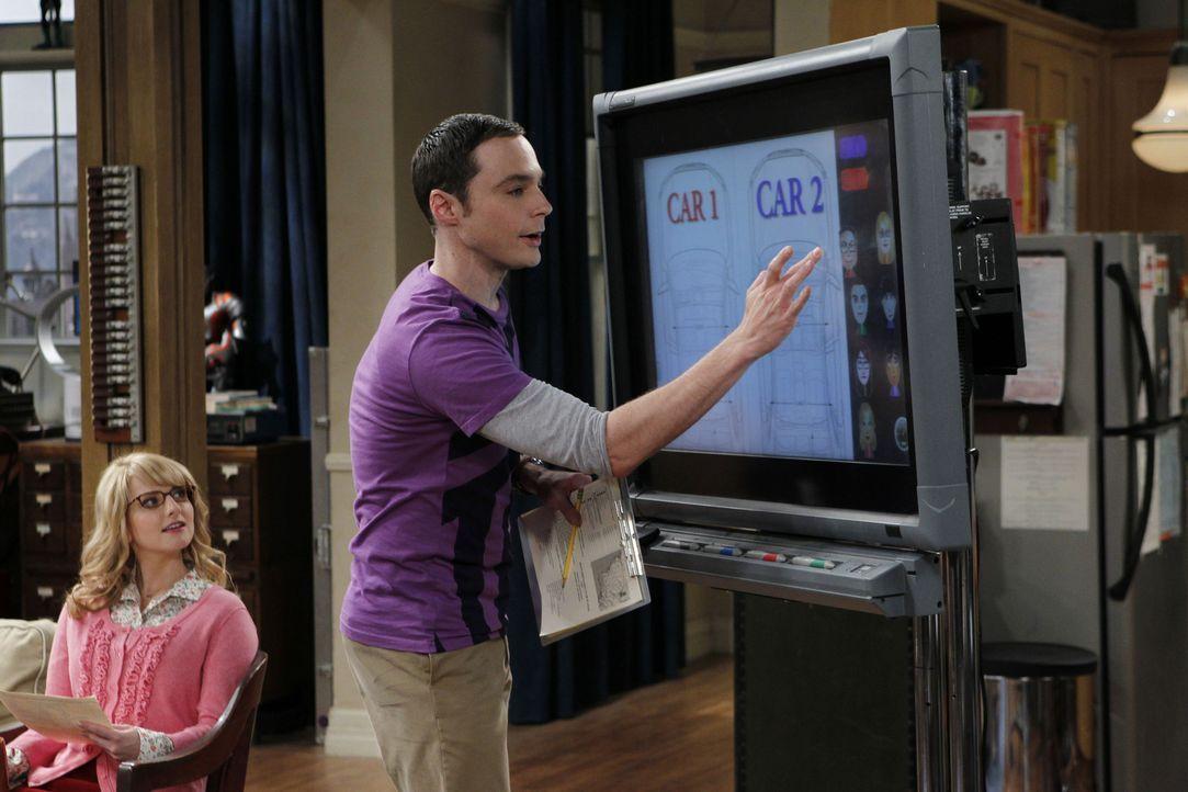 Die Vorbereitungen für eine wissenschaftliche Tagung laufen auf Hochtouren: Bernadette (Melissa Rauch, l.) und Sheldon (Jim Parsons, r.) ... - Bildquelle: Warner Bros. Television