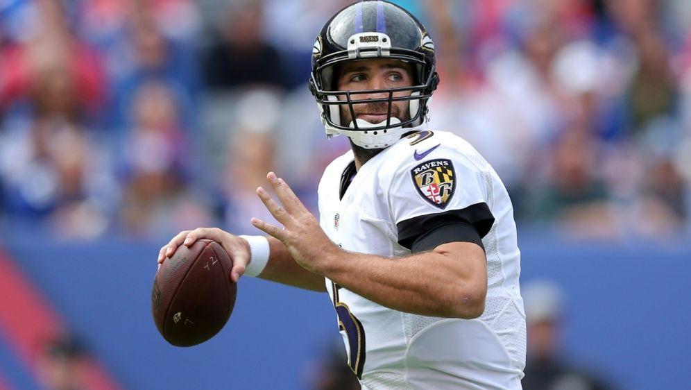 Joe Flacco dürfte bald für die Denver Broncos auflaufen - Bildquelle: PIXATHLONPIXATHLONSID
