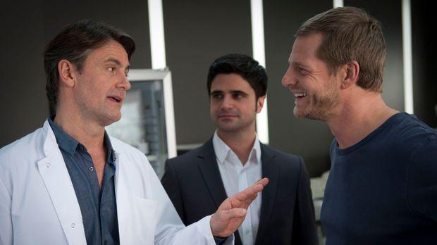 Im Dauerdisput: Meisner (Robert Lohr, l.), Mick (Henning Baum, M.) und Andrea...