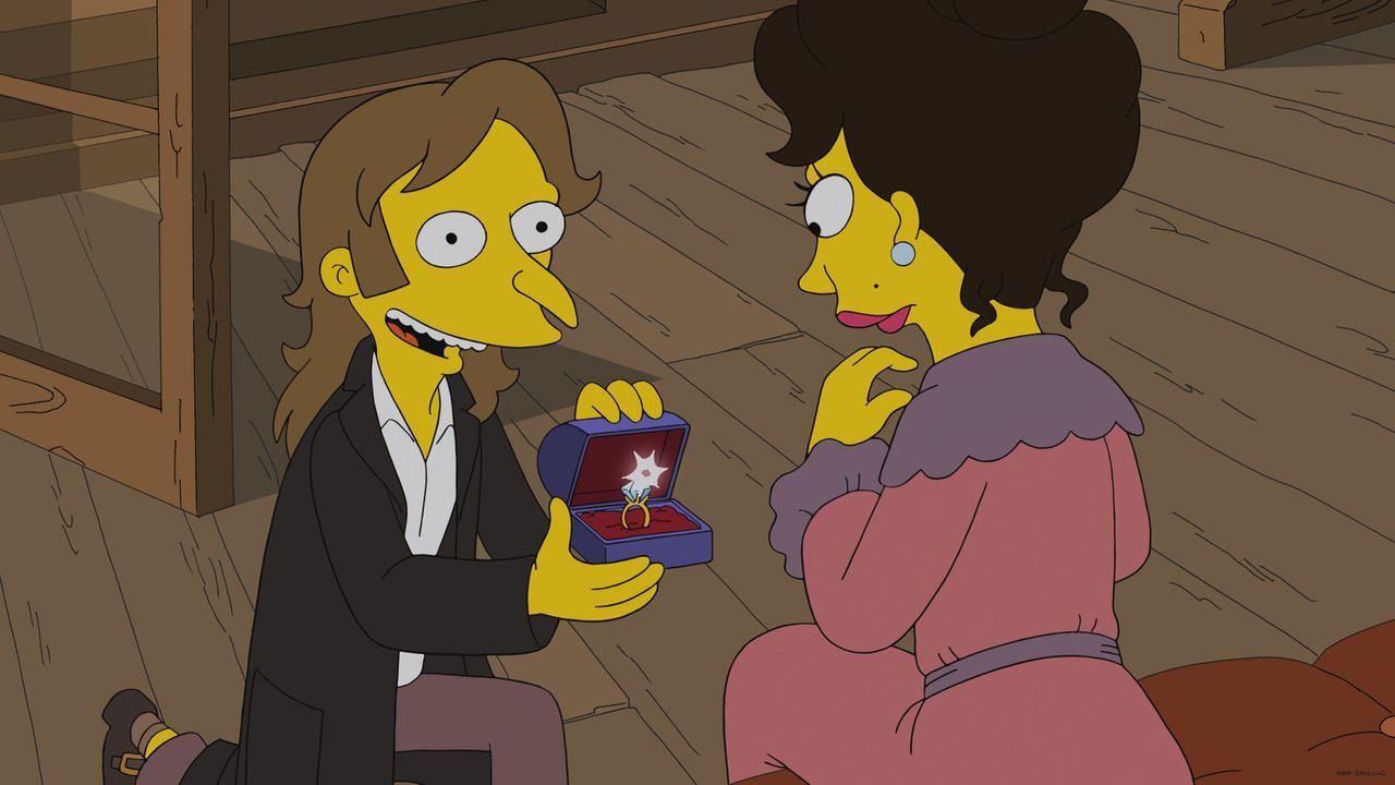 Mr. Burns (l.) hat vor Jahren vieles versucht, um das Herz seiner Jugendliebe Lilah (r.) zu erobern. Doch offensichtlich hatte er sich nicht genug i... - Bildquelle: 2013 Twentieth Century Fox Film Corporation. All rights reserved.