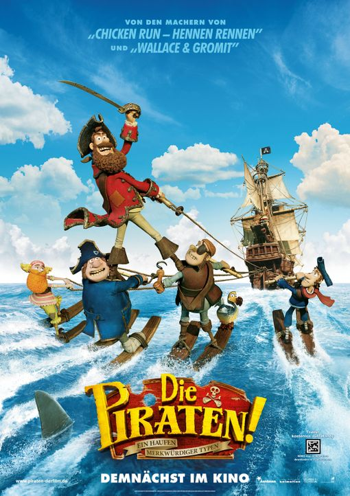 Die Piraten - ein Haufen merkwürdiger Typen - Plakatmotiv - Bildquelle: 2012 Sony Pictures Animation Inc. All Rights Reserved.