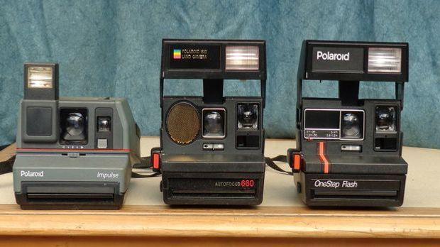 Verschiedene Polaroid Kamera Modelle