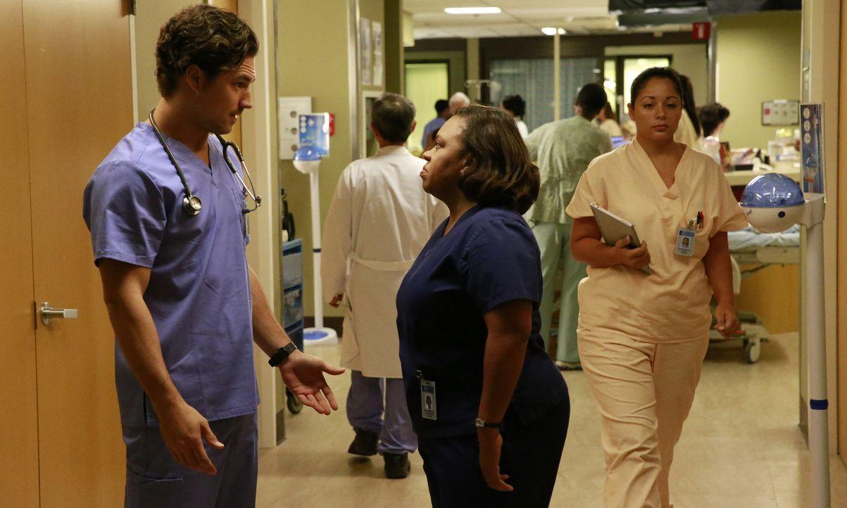 Bailey (Chandra Wilson, r.) und ihre Kollegen müssen sich mit einer Gruppe Feuerwehrmänner befassen, die bei einem Einsatz verletzt wurden, während... - Bildquelle: Mitchell Haaseth ABC Studios