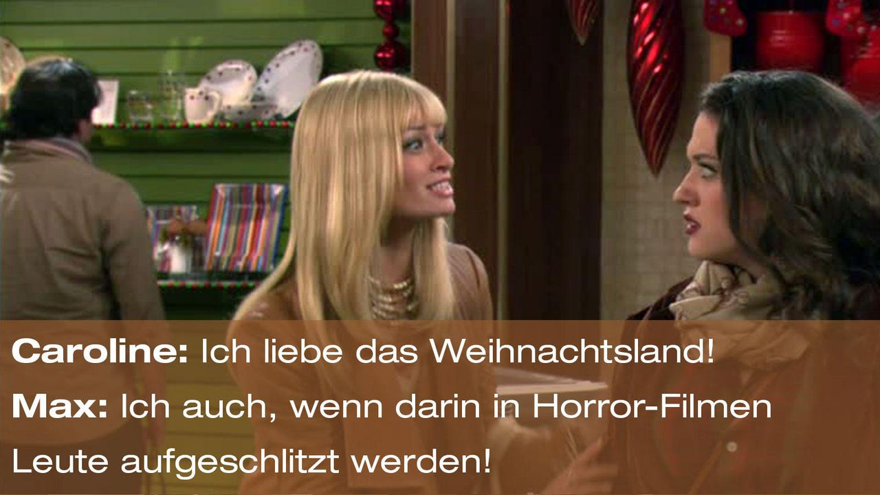 2-broke-girls-episode-12-elfen-terror-zitat-max-caroline-weihnachtsland-warnerjpg 1600 x 900 - Bildquelle: Warner Brothers Entertainment Inc.