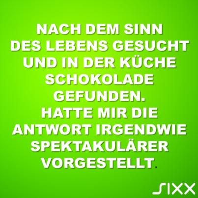 Visual Statements: Sinn des Lebens - Bildquelle: sixx