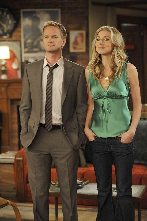 New Jersey oder New York? Stella (Sarah Chalke, r.) und Barney (Neil Patrick Harris, l.) werden sich nicht einig ... - Bildquelle: 20th Century Fox International Television