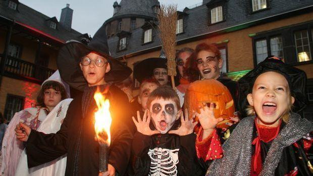 Kinder Halloween Umzug_dpa
