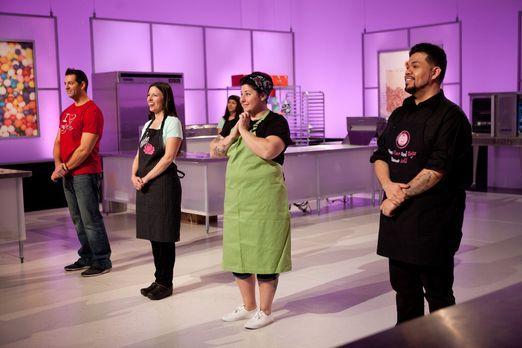 Wie werden sich die Bäcker (v.l.n.r.) Anthony Valerio, Jen Duncan, Erin Erler...