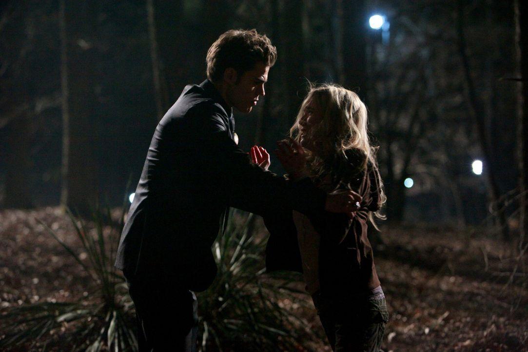 Einen kurzen Moment lang wird Amber (Spender Locke, r.) bewusst, in was für einer gefährlichen Situation sie sich mit Stefan (Paul Wesley, l.) befin... - Bildquelle: Warner Bros. Television
