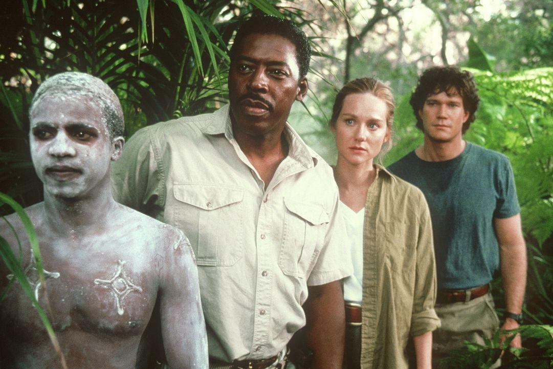 Sie suchen nach einem riesigen Diamantenvorkommen im tiefsten afrikanischen Dschungel: Expeditionsführer Monroe Kelly (Ernie Hudson, 2.v.l.), Prima... - Bildquelle: Paramount Pictures