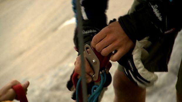 Rekord-Seilläufer auf der Zugspitze