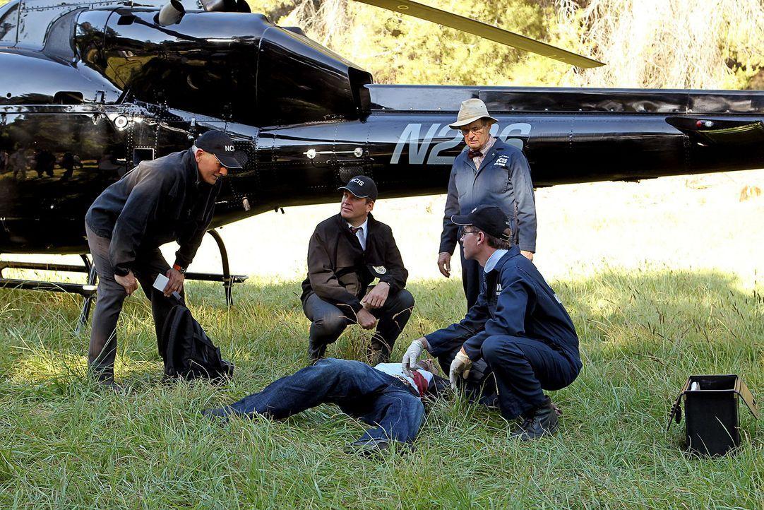Untersuchen ein neues Verbrechen: Gibbs (Mark Harmon, l.), Tony (Michael Weatherly, M.), Ducky (David McCallum, r.) und Jimmy Palmer (Brian Dietzen,... - Bildquelle: CBS Television