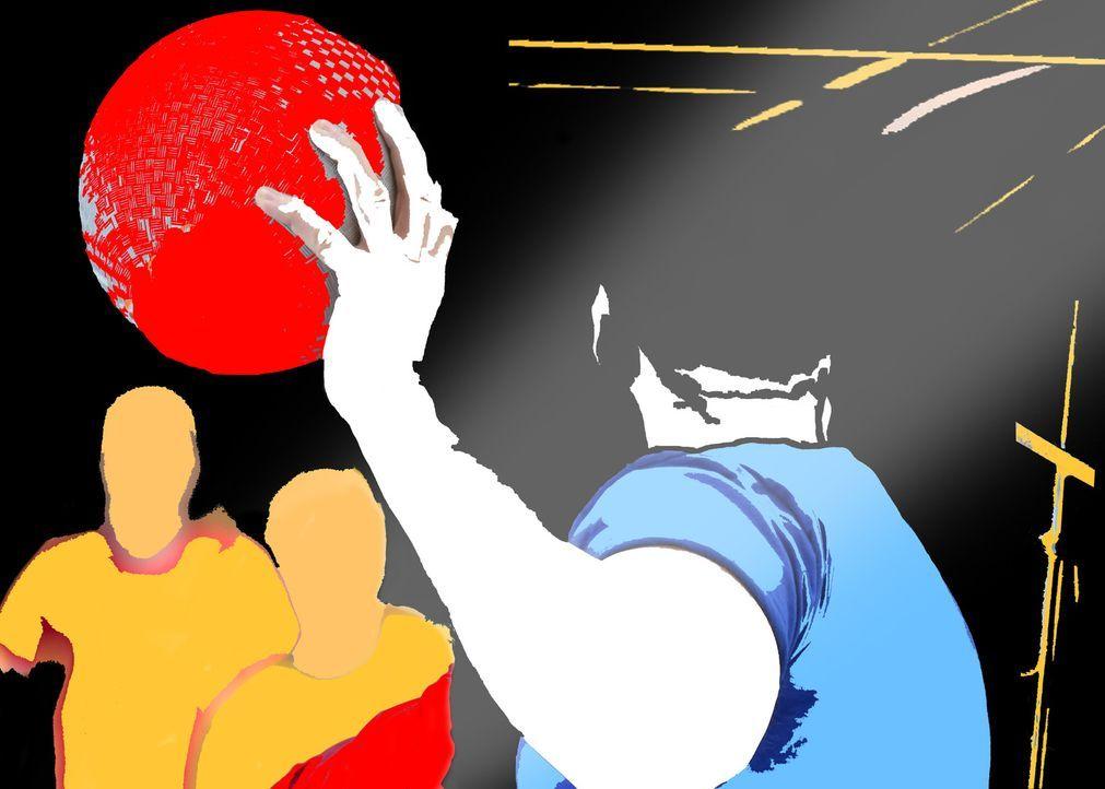 """Zwei Könige, mehrere Leben, ein heißer Ball und hochmotivierte Stars. In """"Die große ProSieben Völkerball Meisterschaft"""" jagen sich Schauspieler, Mod... - Bildquelle: Jörg Koch ProSieben"""