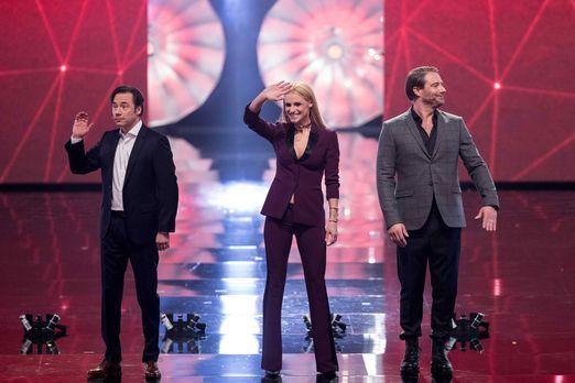 Die Juroren Michelle Hunziker (M.), Michael Bully Herbig (l.) und Sasha (r.)...