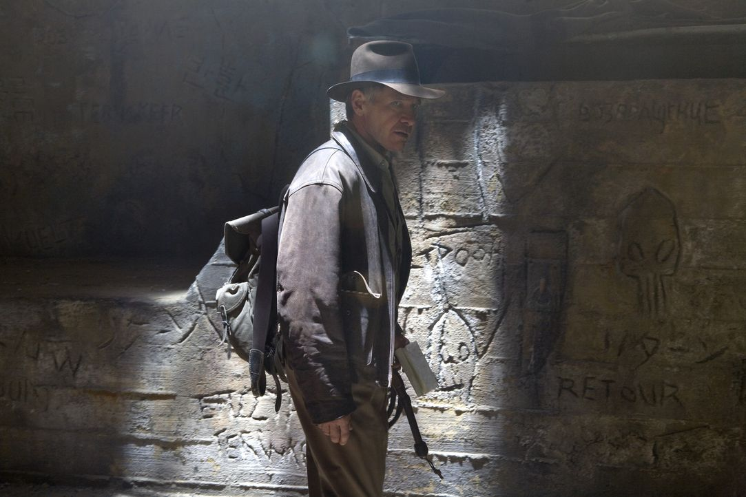 Auf der geheimnisvollen Suche nach dem Kristallschädel: Indiana Jones (Harrison Ford) ... - Bildquelle: David James Lucasfilm Ltd. & TM. All Rights Reserved