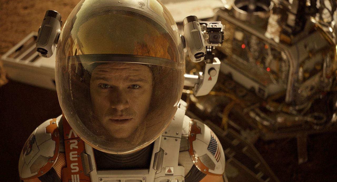 Als der NASA klar wird, dass Botaniker Mark Watney (Matt Damon) den katastrophalen Sandsturm auf dem Mars wider Erwarten überlebt hat, startet eine... - Bildquelle: 2015 Twentieth Century Fox Film Corporation.  All rights reserved.