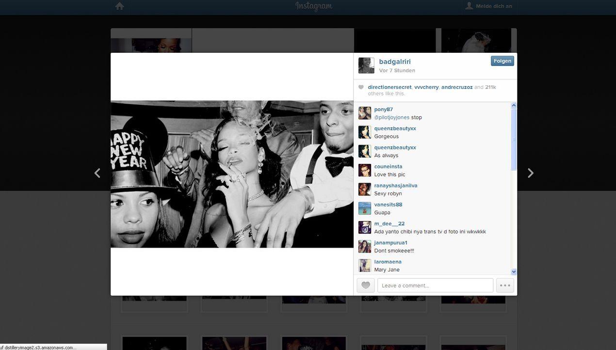Neujahr2014-Rihanna-instagram-com-Rihanna - Bildquelle: instagram.com / Rihanna