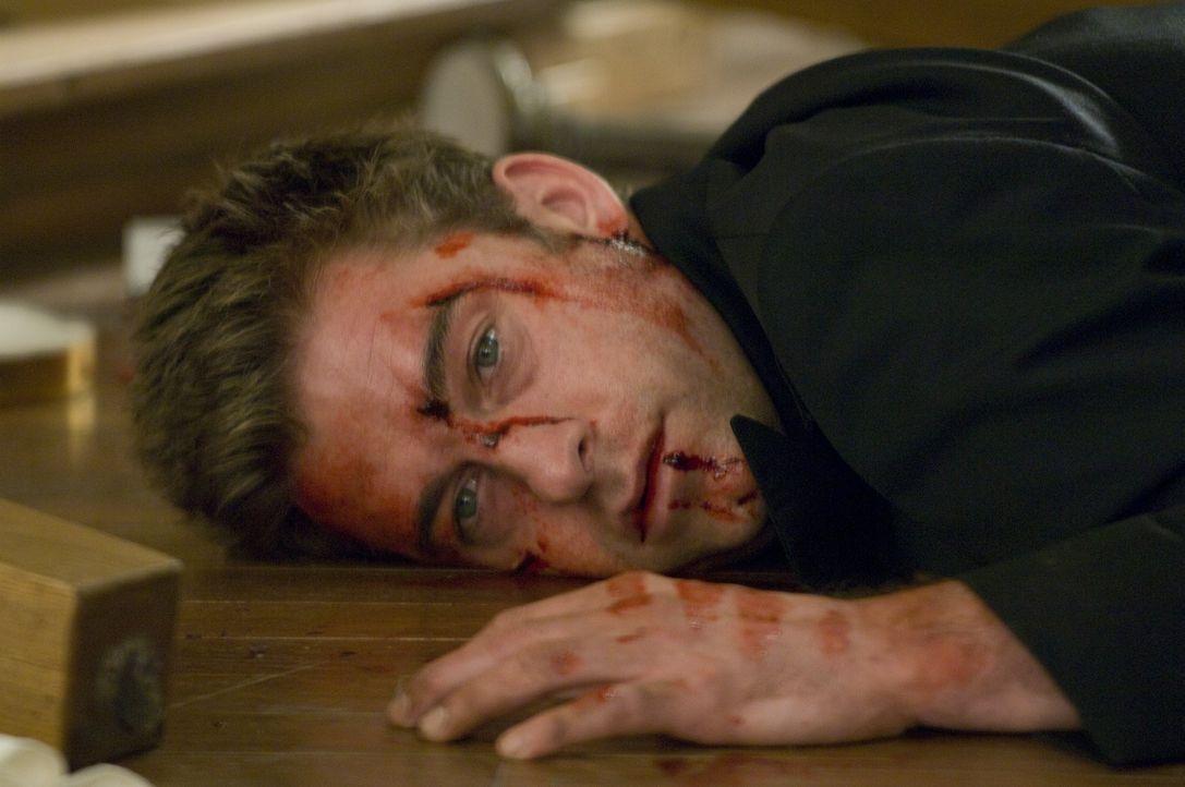 Der Mummenschanz setzt James (Scott Speedman) gewaltig zu. Hat er noch eine Chance, seinen motivlosen Feinden zu entkommen? - Bildquelle: Glenn Watson 2007 Focus Features LLC.  All Rights Reserved.