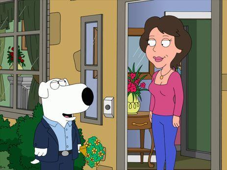 Family Guy - Brian (l.) verliebt sich schon bald in Rita (r.), wo er es doch...