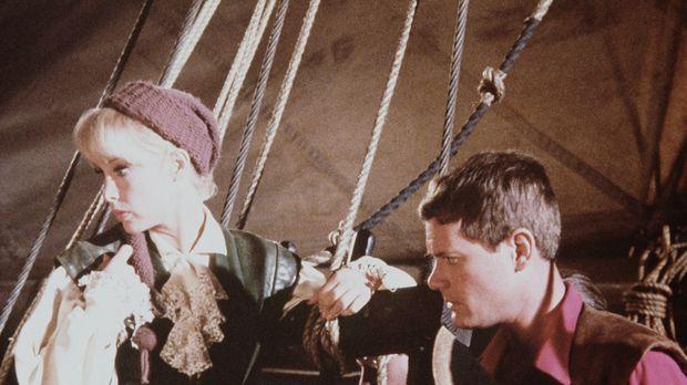 Jeannie (Barbara Eden, l.) wollte ihrem Meister (Larry Hagman, r.) einen Kind...