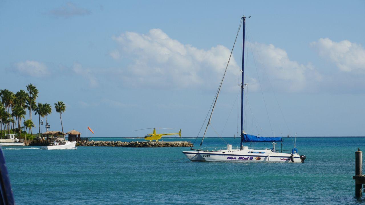 Oranjestad, die Hauptstadt der niederländischen Insel Aruba in der Karibik. Der Hafen der Insel bietet eine wunderschöne Sicht auf den türkisen, une... - Bildquelle: 2016, The Travel Channel, L.L.C. All Rights Reserved.