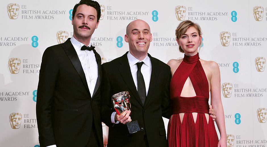 BAFTA-Oppenheimer-Poots-JackHuston-14-02-16-AFP - Bildquelle: AFP