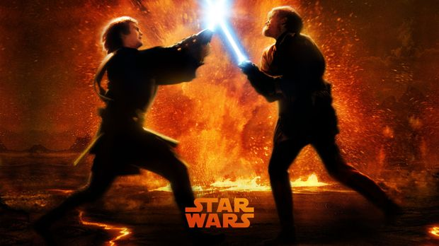 STAR WARS: EPISODE III - DIE RACHE DER SITH - Plakatmotiv: Zwischen Obi-Wan K...