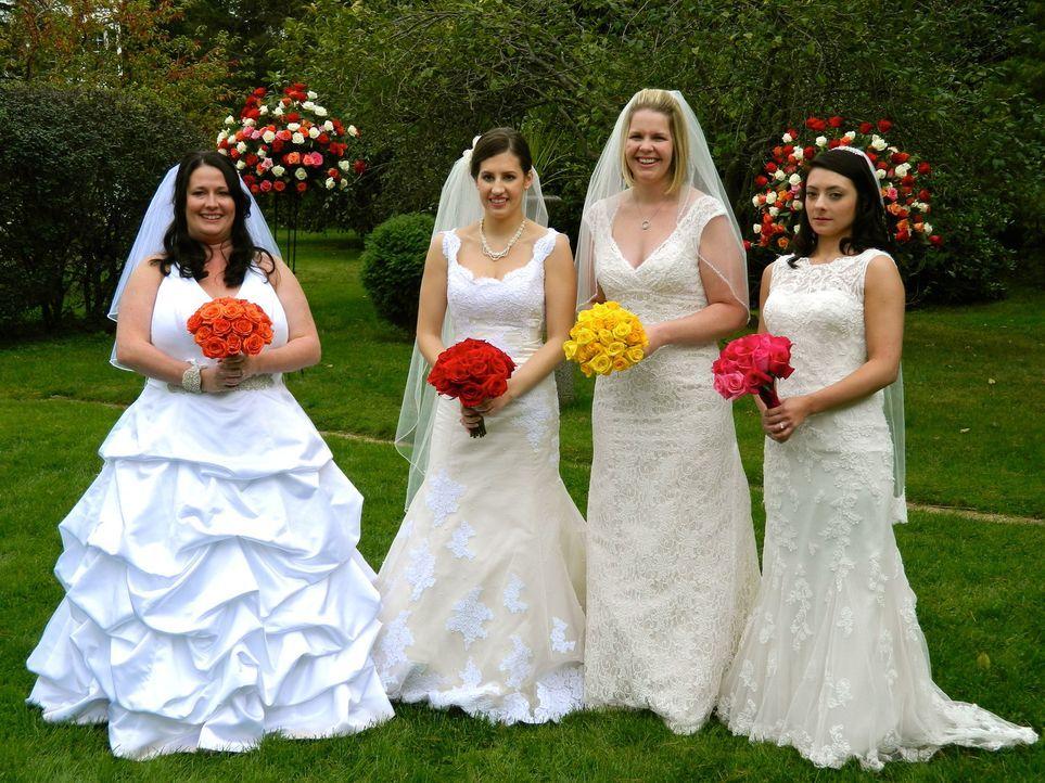 Jede der vier Bräute glaubt, die perfekte Hochzeit organisiert zu haben, doch wer wird auch die Konkurrenz davon überzeugen können: Jessica (l.), Ly... - Bildquelle: Richard Vagg DCL