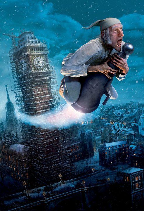 Der selbstsüchtige und geizige Ebenezer Scrooge (Jim Carrey) bekommt am Heiligabend von seinem bereits verstorbener Freund Marley, Besuch, der ihm... - Bildquelle: Walt Disney Pictures/Imagemovers Digital, LLC.