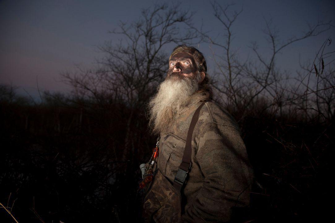 Phil (Phil Robertson) muss sich eingestehen, dass er den Kampf gegen die Biber nicht gewinnen kann ... - Bildquelle: Zach Dilgard 2012 A+E Networks